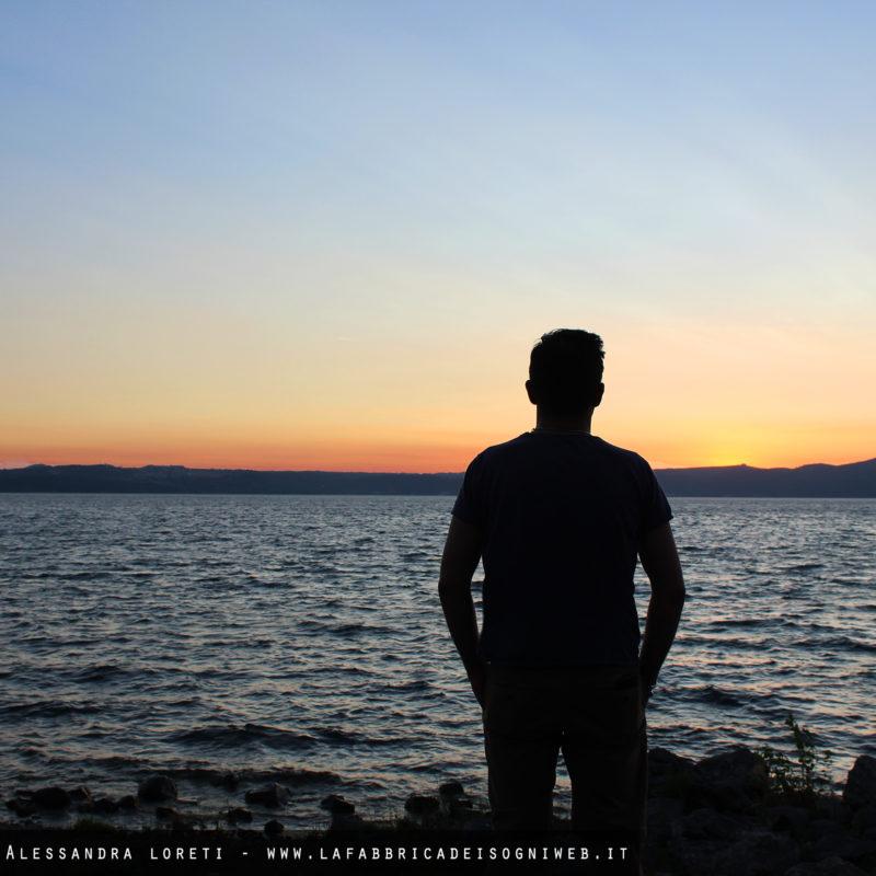 silhouette al tramonto anguillara