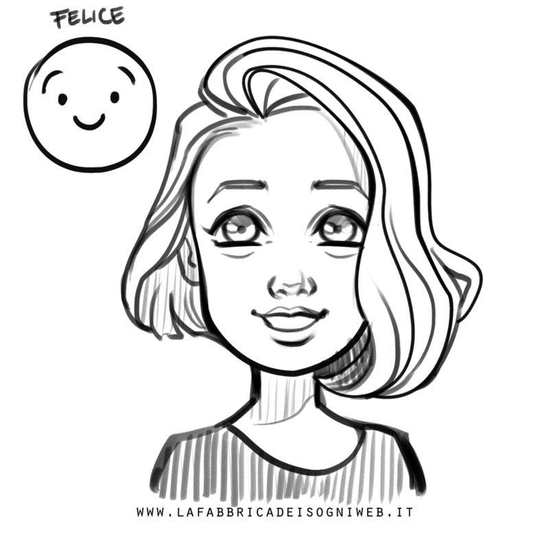 disegnare le emozioni - felicità