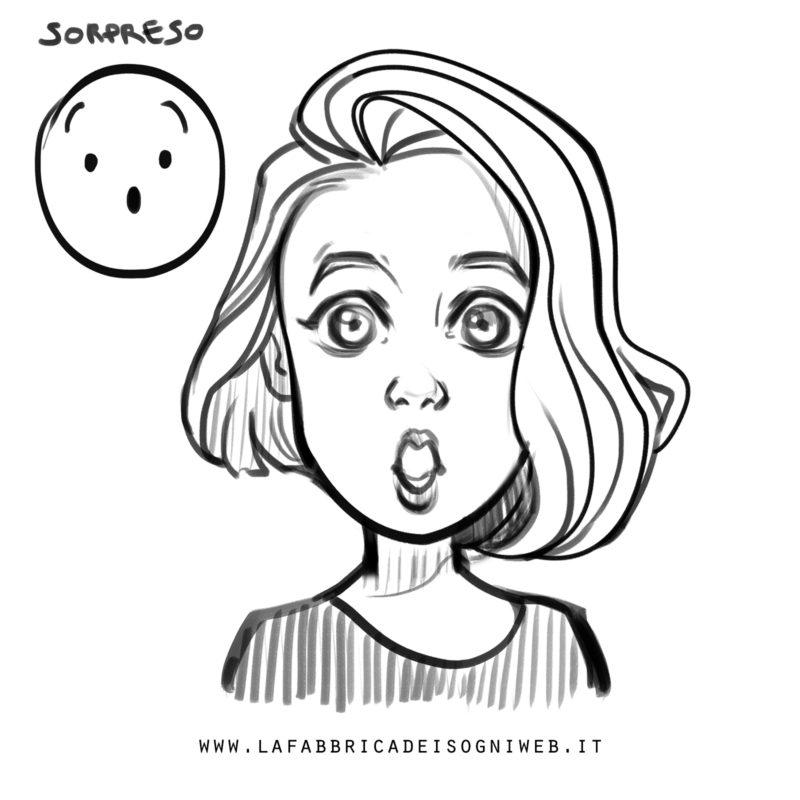 disegnare le emozioni - sorpresa