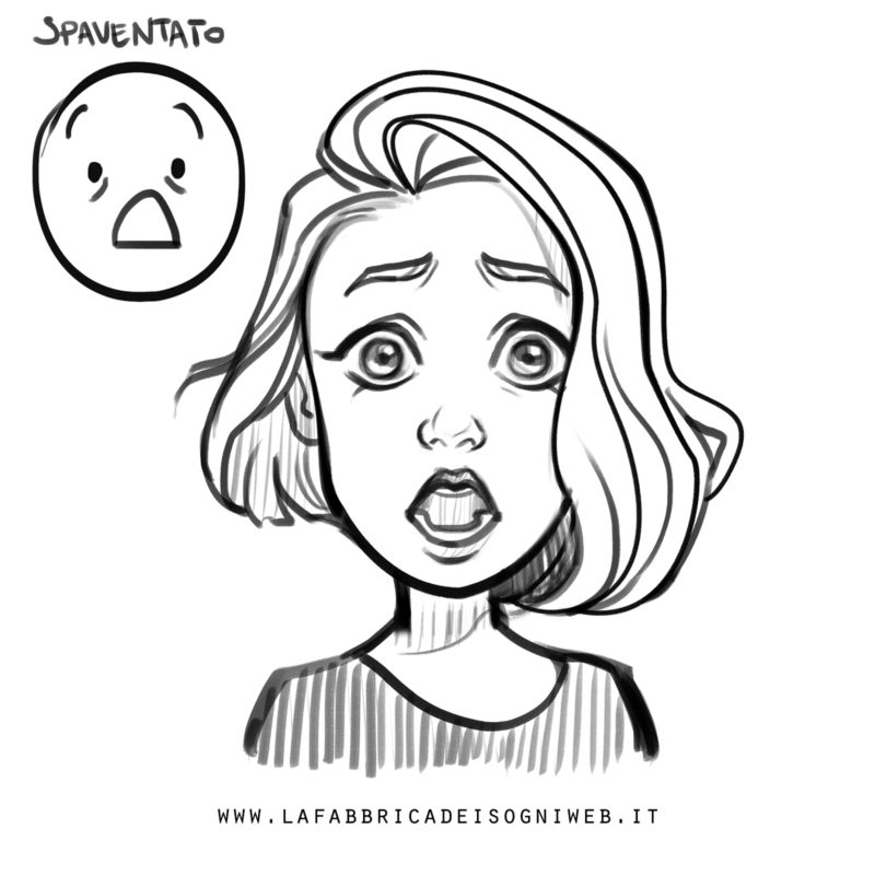 disegnare le emozioni - paura/terrore