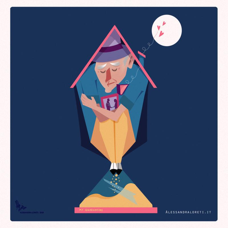 Alessandra Loreti - illustrazione di tristezza, profondo dolore