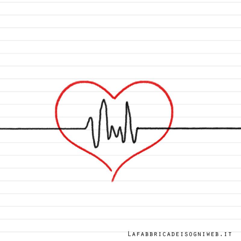 disegnare con le righe: l'elettrocardiogramma