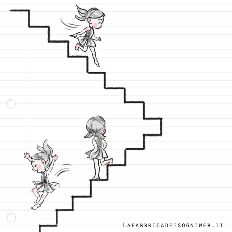 disegnare con le righe: le scale