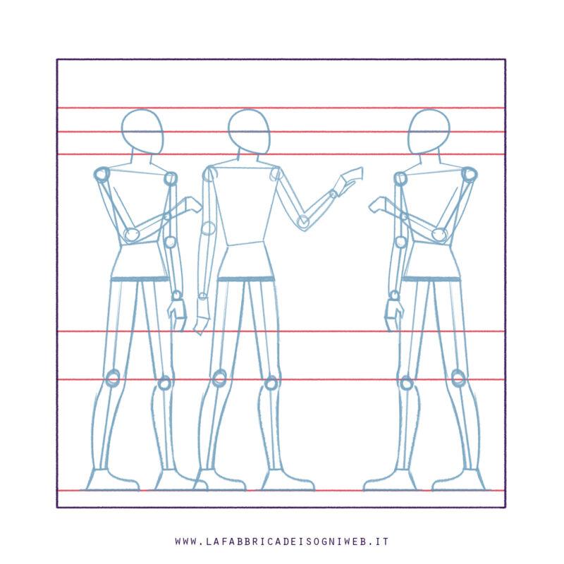 disegnare come gli antichi egizi: sketch
