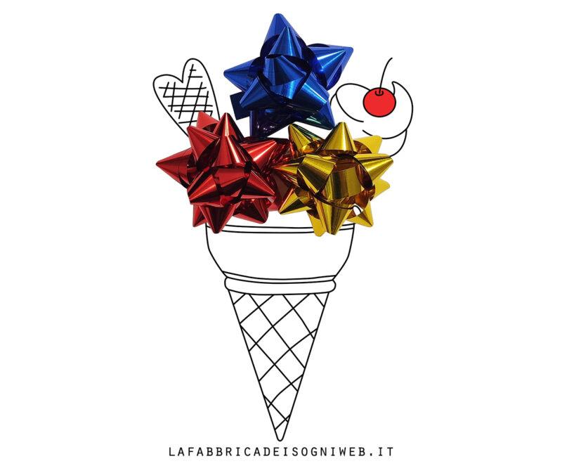 disegnare con gli oggetti - cono gelato