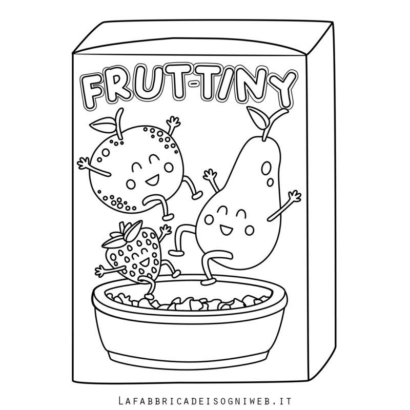 Disegno della scatola Frut-Tiny