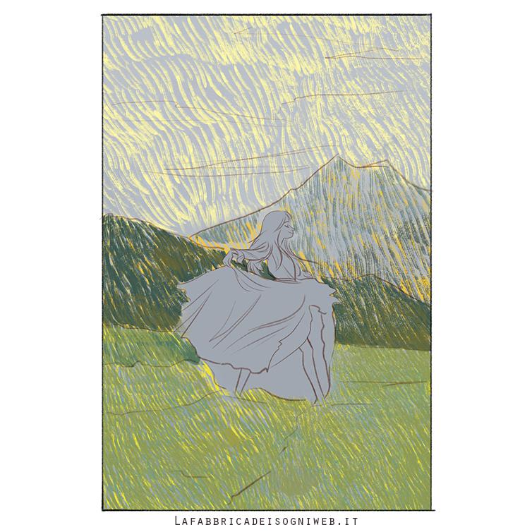 disegnare l'impressionismo - secondo strato di colore