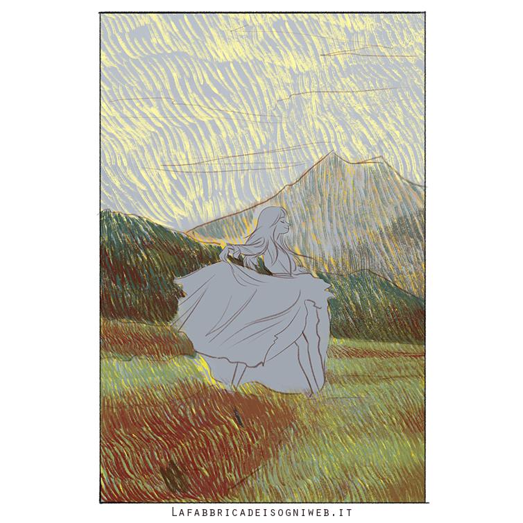 disegnare l'impressionismo - terzo strato di colore