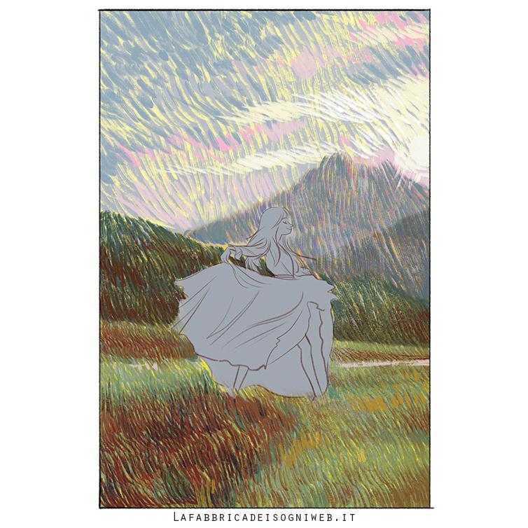 disegnare l'impressionismo - quarto strato di colore