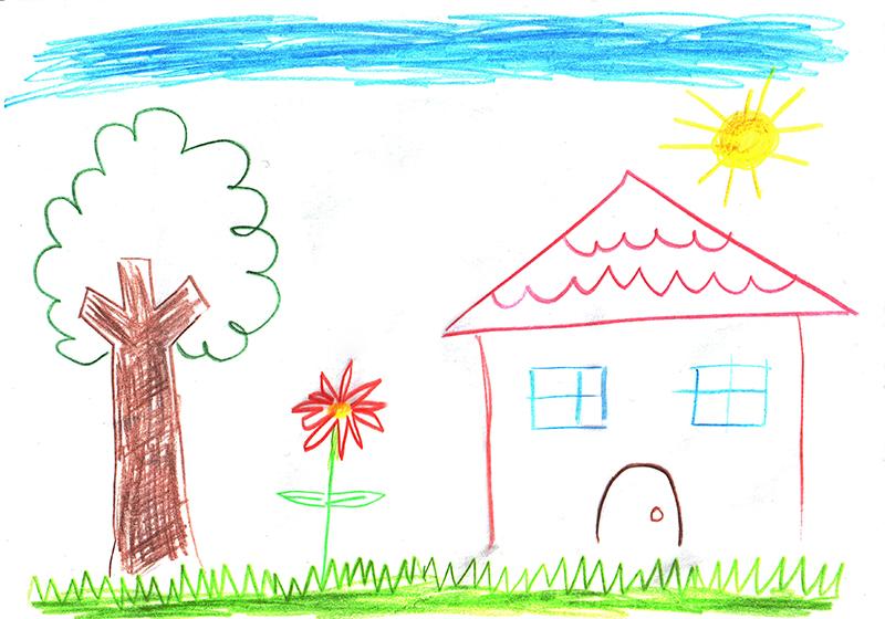 disegno in età scolare - il paesaggio