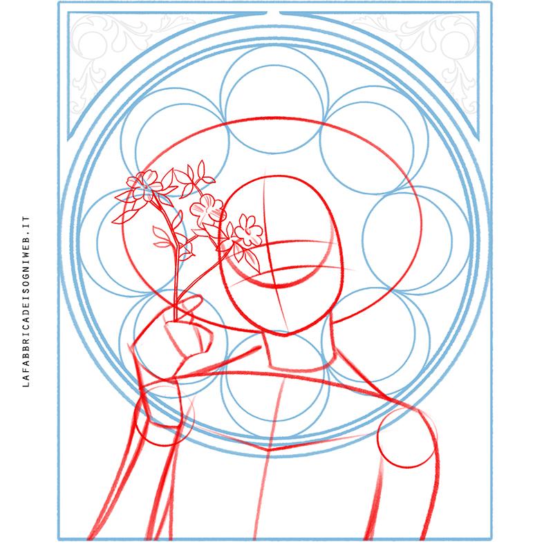 disegnare come gli artisti dell' Art Nouveau - sketch