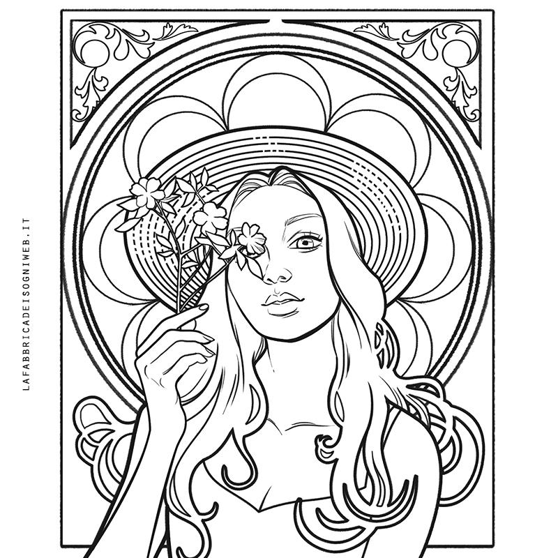 disegnare come gli artisti dell' Art Nouveau - base