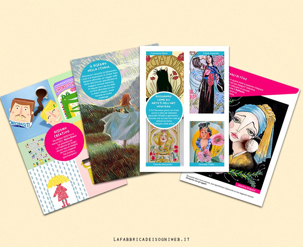 Alcuni esempi di pagine interne del Summer Creative Book